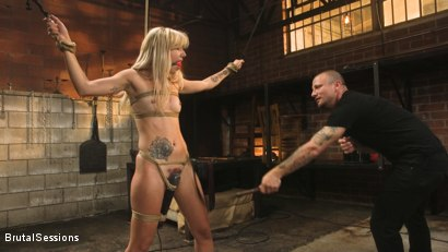 Photo number 8 from Sophia Grace: All-Natural Blonde Power Fucked in Rope Bondage shot for Brutal Sessions on Kink.com. Featuring Mr. Pete and Sophia Grace in hardcore BDSM & Fetish porn.