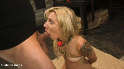 Photo number 10 from Sophia Grace: All-Natural Blonde Power Fucked in Rope Bondage shot for Brutal Sessions on Kink.com. Featuring Mr. Pete and Sophia Grace in hardcore BDSM & Fetish porn.