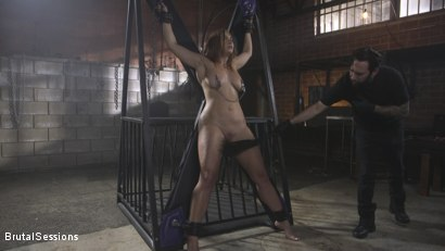 Photo number 2 from Attitude Adjustment: Slutty Skylar Snow gets her ass flogged, caned and fucked shot for Brutal Sessions on Kink.com. Featuring Tommy Pistol and Skylar Snow in hardcore BDSM & Fetish porn.