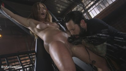 Photo number 4 from Attitude Adjustment: Slutty Skylar Snow gets her ass flogged, caned and fucked shot for Brutal Sessions on Kink.com. Featuring Tommy Pistol and Skylar Snow in hardcore BDSM & Fetish porn.
