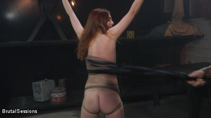 Photo number 3 from Maya Kendrick gets her whore holes fucked and flogged in bondage shot for Brutal Sessions on Kink.com. Featuring Derrick Pierce and Maya Kendrick in hardcore BDSM & Fetish porn.