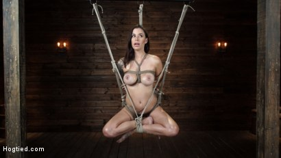 Photo number 11 from Gia DiMarco is Back! Grueling Bondage And Mind-Blowing Orgasms shot for Hogtied on Kink.com. Featuring Gia DiMarco in hardcore BDSM & Fetish porn.