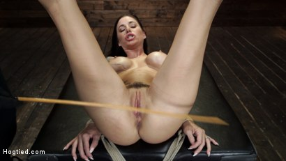 Photo number 21 from Gia DiMarco is Back! Grueling Bondage And Mind-Blowing Orgasms shot for Hogtied on Kink.com. Featuring Gia DiMarco in hardcore BDSM & Fetish porn.