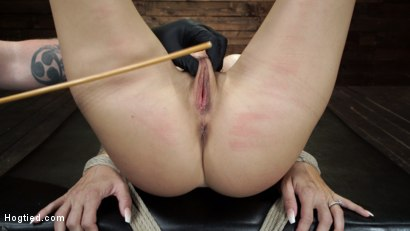 Photo number 22 from Gia DiMarco is Back! Grueling Bondage And Mind-Blowing Orgasms shot for Hogtied on Kink.com. Featuring Gia DiMarco in hardcore BDSM & Fetish porn.