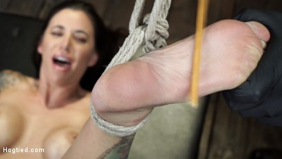 Photo number 24 from Gia DiMarco is Back! Grueling Bondage And Mind-Blowing Orgasms shot for Hogtied on Kink.com. Featuring Gia DiMarco in hardcore BDSM & Fetish porn.