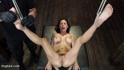Photo number 25 from Gia DiMarco is Back! Grueling Bondage And Mind-Blowing Orgasms shot for Hogtied on Kink.com. Featuring Gia DiMarco in hardcore BDSM & Fetish porn.