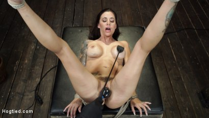 Photo number 28 from Gia DiMarco is Back! Grueling Bondage And Mind-Blowing Orgasms shot for Hogtied on Kink.com. Featuring Gia DiMarco in hardcore BDSM & Fetish porn.