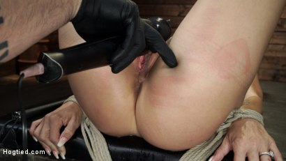 Photo number 30 from Gia DiMarco is Back! Grueling Bondage And Mind-Blowing Orgasms shot for Hogtied on Kink.com. Featuring Gia DiMarco in hardcore BDSM & Fetish porn.