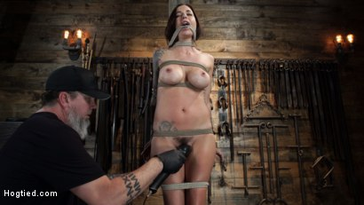 Photo number 7 from Gia DiMarco is Back! Grueling Bondage And Mind-Blowing Orgasms shot for Hogtied on Kink.com. Featuring Gia DiMarco in hardcore BDSM & Fetish porn.