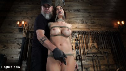 Photo number 9 from Gia DiMarco is Back! Grueling Bondage And Mind-Blowing Orgasms shot for Hogtied on Kink.com. Featuring Gia DiMarco in hardcore BDSM & Fetish porn.