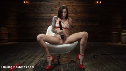 Photo number 4 from Gia DiMarco: Queen Bee is Tied Up and Machine Fucked shot for Fucking Machines on Kink.com. Featuring Gia DiMarco in hardcore BDSM & Fetish porn.