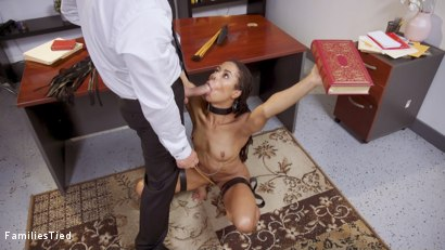 Photo number 3 from Submissive Step-Daughter Seduces Her Daddy's TA shot for  on Kink.com. Featuring Ramon Nomar, Kacie Castle and Kira Noir in hardcore BDSM & Fetish porn.
