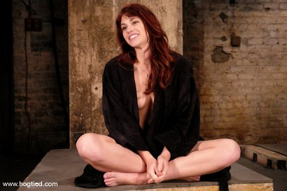 "Photo number 15 from Hogtied welcomes back the beautiful Faith Leon.  Now an adult ""A"" lister, Faith returns to her roots shot for Hogtied on Kink.com. Featuring Faith Leon in hardcore BDSM & Fetish porn."