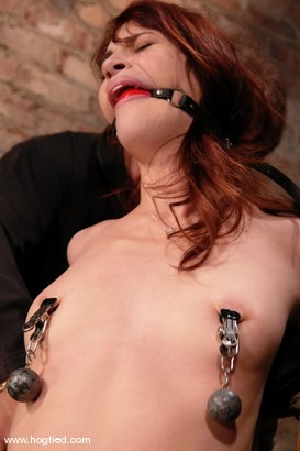 """Photo number 11 from Hogtied welcomes back the beautiful Faith Leon.  Now an adult """"A"""" lister, Faith returns to her roots shot for Hogtied on Kink.com. Featuring Faith Leon in hardcore BDSM & Fetish porn."""