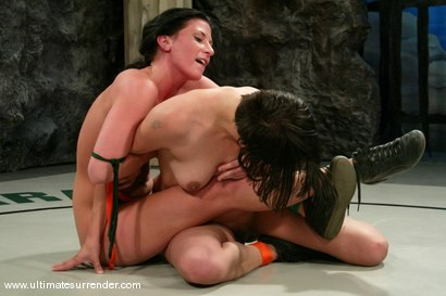 Photo number 11 from SUMMER VENGEANCE<BR>The Assassin(2-1) Ranked 9th<br>Athena(1-1) Ranked 10th shot for Ultimate Surrender on Kink.com. Featuring Naudia Nyce and Ariel X in hardcore BDSM & Fetish porn.