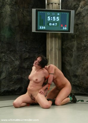 Photo number 8 from SUMMER VENGEANCE<BR>The Assassin(2-1) Ranked 9th<br>Athena(1-1) Ranked 10th shot for Ultimate Surrender on Kink.com. Featuring Naudia Nyce and Ariel X in hardcore BDSM & Fetish porn.