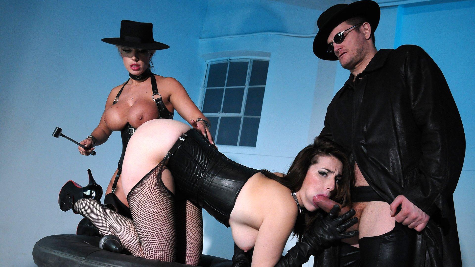 Dildo Fuck Machine and Hard Fucking In Sex Swing