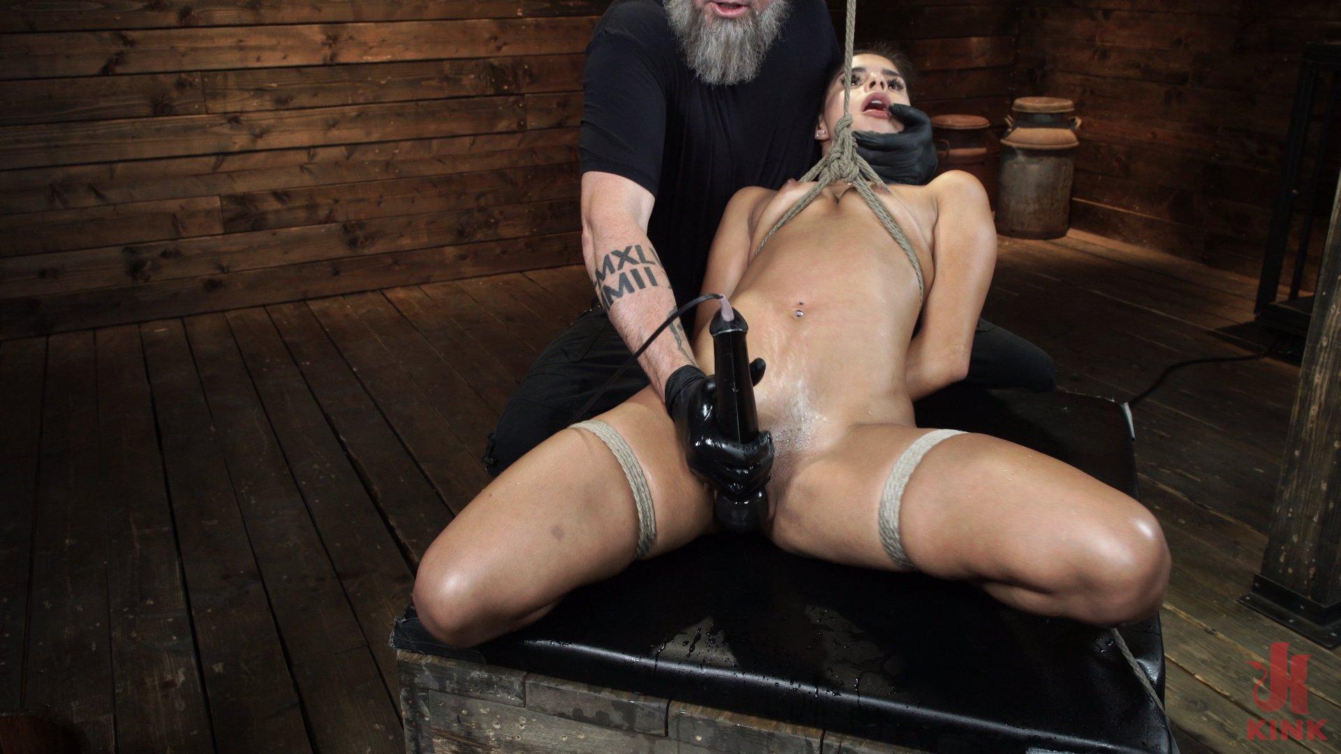 Photo number 14 from Katya Rodriguez: Hogtied Newcomer Bound and Tormented in Bondage shot for Hogtied on Kink.com. Featuring Katya Rodriguez in hardcore BDSM & Fetish porn.