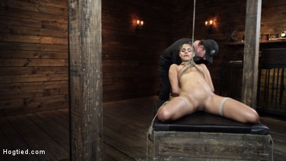Photo number 8 from Katya Rodriguez: Hogtied Newcomer Bound and Tormented in Bondage shot for Hogtied on Kink.com. Featuring Katya Rodriguez in hardcore BDSM & Fetish porn.