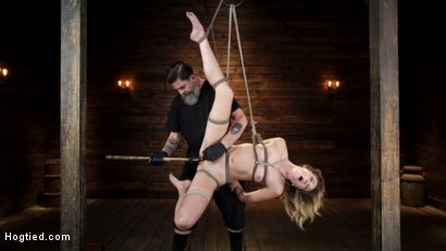 Photo number 14 from Charlotte Sins: Tall Blonde Beauty Makes Her Debut shot for Hogtied on Kink.com. Featuring Charlotte Sins in hardcore BDSM & Fetish porn.