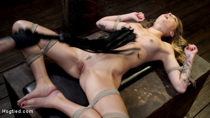Photo number 19 from Charlotte Sins: Tall Blonde Beauty Makes Her Debut shot for Hogtied on Kink.com. Featuring Charlotte Sins in hardcore BDSM & Fetish porn.