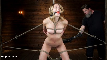 Photo number 2 from Charlotte Sins: Tall Blonde Beauty Makes Her Debut shot for Hogtied on Kink.com. Featuring Charlotte Sins in hardcore BDSM & Fetish porn.