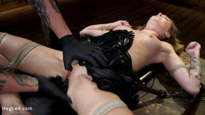 Photo number 22 from Charlotte Sins: Tall Blonde Beauty Makes Her Debut shot for Hogtied on Kink.com. Featuring Charlotte Sins in hardcore BDSM & Fetish porn.