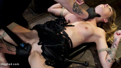 Photo number 23 from Charlotte Sins: Tall Blonde Beauty Makes Her Debut shot for Hogtied on Kink.com. Featuring Charlotte Sins in hardcore BDSM & Fetish porn.