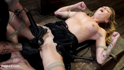 Photo number 26 from Charlotte Sins: Tall Blonde Beauty Makes Her Debut shot for Hogtied on Kink.com. Featuring Charlotte Sins in hardcore BDSM & Fetish porn.