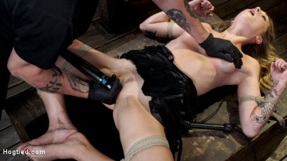Photo number 27 from Charlotte Sins: Tall Blonde Beauty Makes Her Debut shot for Hogtied on Kink.com. Featuring Charlotte Sins in hardcore BDSM & Fetish porn.