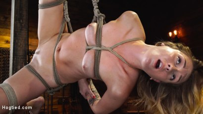 Photo number 29 from Charlotte Sins: Tall Blonde Beauty Makes Her Debut shot for Hogtied on Kink.com. Featuring Charlotte Sins in hardcore BDSM & Fetish porn.