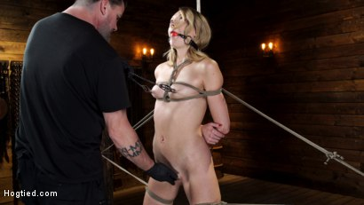 Photo number 3 from Charlotte Sins: Tall Blonde Beauty Makes Her Debut shot for Hogtied on Kink.com. Featuring Charlotte Sins in hardcore BDSM & Fetish porn.