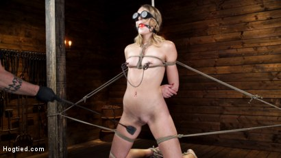 Photo number 4 from Charlotte Sins: Tall Blonde Beauty Makes Her Debut shot for Hogtied on Kink.com. Featuring Charlotte Sins in hardcore BDSM & Fetish porn.