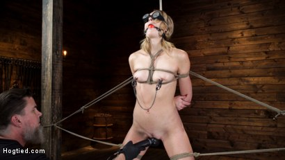 Photo number 5 from Charlotte Sins: Tall Blonde Beauty Makes Her Debut shot for Hogtied on Kink.com. Featuring Charlotte Sins in hardcore BDSM & Fetish porn.