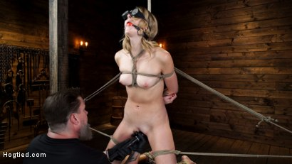 Photo number 7 from Charlotte Sins: Tall Blonde Beauty Makes Her Debut shot for Hogtied on Kink.com. Featuring Charlotte Sins in hardcore BDSM & Fetish porn.