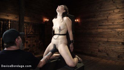 Photo number 13 from Juliette March: Perfect Pain Slut Pushed to the Extreme shot for Device Bondage on Kink.com. Featuring Juliette March in hardcore BDSM & Fetish porn.