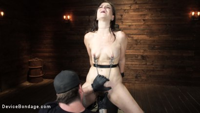 Photo number 15 from Juliette March: Perfect Pain Slut Pushed to the Extreme shot for Device Bondage on Kink.com. Featuring Juliette March in hardcore BDSM & Fetish porn.