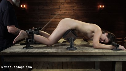 Photo number 19 from Juliette March: Perfect Pain Slut Pushed to the Extreme shot for Device Bondage on Kink.com. Featuring Juliette March in hardcore BDSM & Fetish porn.