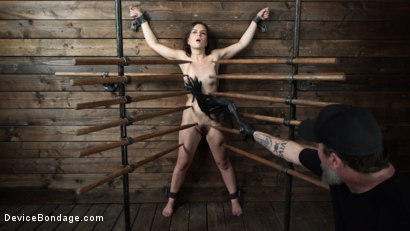 Photo number 5 from Juliette March: Perfect Pain Slut Pushed to the Extreme shot for Device Bondage on Kink.com. Featuring Juliette March in hardcore BDSM & Fetish porn.