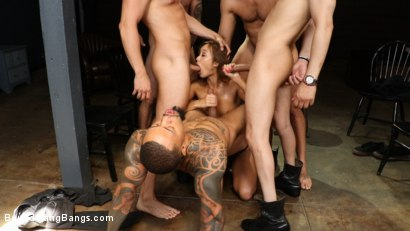 Photo number 7 from Christy Love Attends Sex Addiction Group and Gets Stuffed! shot for Bound Gang Bangs on Kink.com. Featuring Ramon Nomar, Eddie Jaye, Codey Steele , Donny Sins, Mr. Pete and Christy Love in hardcore BDSM & Fetish porn.