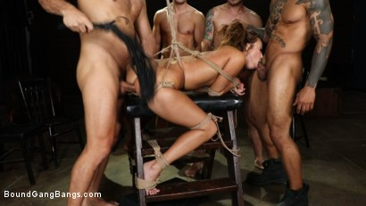 Photo number 14 from Christy Love Attends Sex Addiction Group and Gets Stuffed! shot for Bound Gang Bangs on Kink.com. Featuring Ramon Nomar, Eddie Jaye, Codey Steele , Donny Sins, Mr. Pete and Christy Love in hardcore BDSM & Fetish porn.