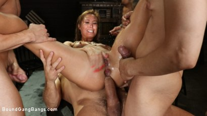 Photo number 19 from Christy Love Attends Sex Addiction Group and Gets Stuffed! shot for Bound Gang Bangs on Kink.com. Featuring Ramon Nomar, Eddie Jaye, Codey Steele , Donny Sins, Mr. Pete and Christy Love in hardcore BDSM & Fetish porn.