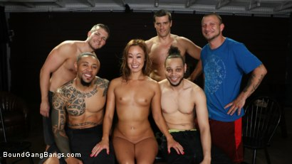 Photo number 31 from Christy Love Attends Sex Addiction Group and Gets Stuffed! shot for Bound Gang Bangs on Kink.com. Featuring Ramon Nomar, Eddie Jaye, Codey Steele , Donny Sins, Mr. Pete and Christy Love in hardcore BDSM & Fetish porn.