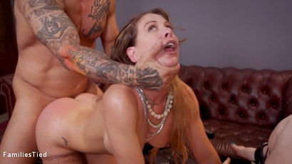 Photo number 23 from Mommy's Girl: Anal Slut Didn't Save Enough Pussy For Step-Mommy shot for  on Kink.com. Featuring Cherie DeVille, Ella Nova  and Derrick Pierce in hardcore BDSM & Fetish porn.