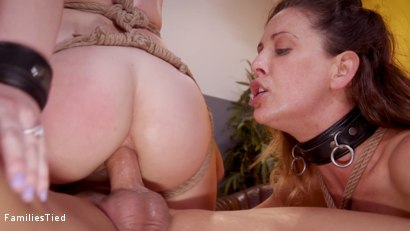 Photo number 32 from Mommy's Girl: Anal Slut Didn't Save Enough Pussy For Step-Mommy shot for  on Kink.com. Featuring Cherie DeVille, Ella Nova  and Derrick Pierce in hardcore BDSM & Fetish porn.