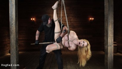 Photo number 11 from Penny Pax: Blue-Eyed Redhead Damsel Tormented in Strict Bondage shot for Hogtied on Kink.com. Featuring Penny Pax in hardcore BDSM & Fetish porn.