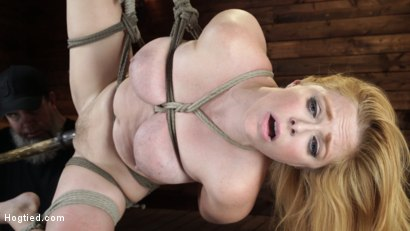 Photo number 12 from Penny Pax: Blue-Eyed Redhead Damsel Tormented in Strict Bondage shot for Hogtied on Kink.com. Featuring Penny Pax in hardcore BDSM & Fetish porn.