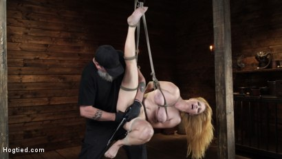Photo number 13 from Penny Pax: Blue-Eyed Redhead Damsel Tormented in Strict Bondage shot for Hogtied on Kink.com. Featuring Penny Pax in hardcore BDSM & Fetish porn.