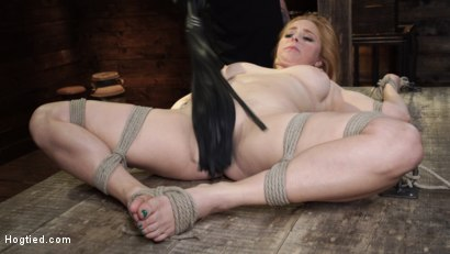 Photo number 16 from Penny Pax: Blue-Eyed Redhead Damsel Tormented in Strict Bondage shot for Hogtied on Kink.com. Featuring Penny Pax in hardcore BDSM & Fetish porn.