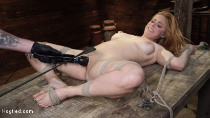 Photo number 17 from Penny Pax: Blue-Eyed Redhead Damsel Tormented in Strict Bondage shot for Hogtied on Kink.com. Featuring Penny Pax in hardcore BDSM & Fetish porn.